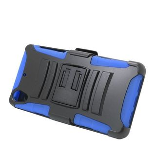 Insten Hard PC/ Silicone Dual Layer Hybrid Case Cover with Stand/ Holster For Sony Xperia Z2