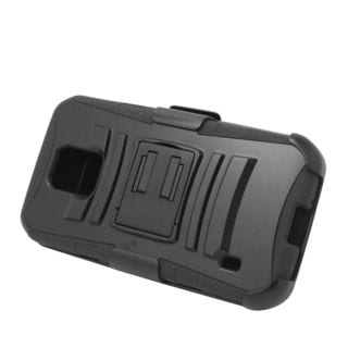 Insten Hard PC/ Silicone Dual Layer Hybrid Case Cover with Stand/ Holster For Samsung Galaxy S5 Active