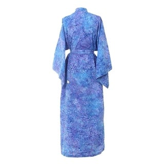 Handcrafted Cotton 'Rushing River' Batik Robe (Indonesia)