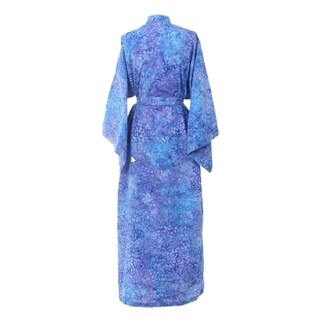 Handmade Cotton 'Rushing River' Batik Robe (Indonesia)