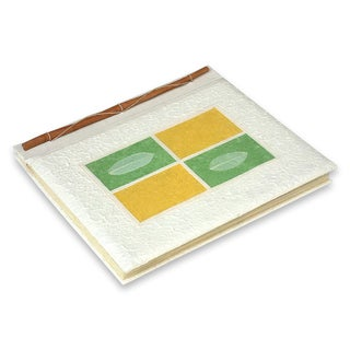 Handcrafted Natural Fiber 'Nature's Window' Photo Album (Indonesia)