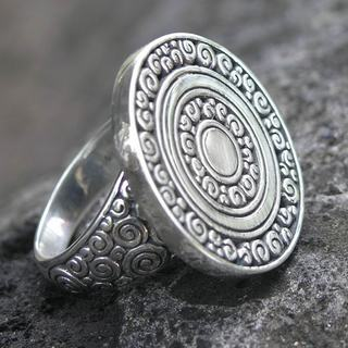 Handcrafted Sterling Silver 'Coins of the Kingdom' Ring (Indonesia)