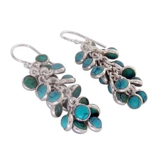 Sterling Silver 'Temptress' Magnesite Earrings (India)