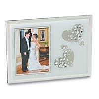 Versil Sparkling Hearts Glass 5-inch x 7-inch Photo Frame