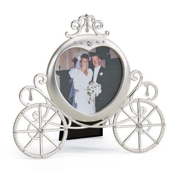 Versil Pewter Pumpkin Carriage Photo Frame