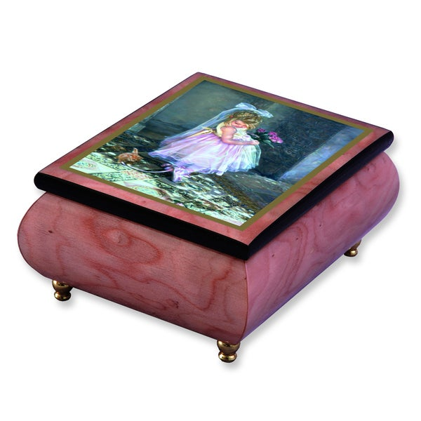 Versil Sandra Kuck 'Little Darling' Pink Wood Music Box