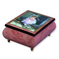 Versil Sandra Kuck 'Little Darling' Pink Wood Music Box