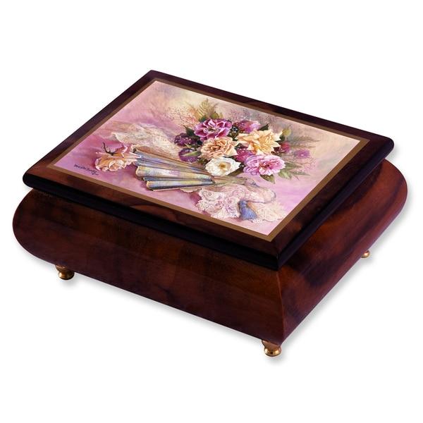 Versil Brenda Burke Nostalgia Brown Wood Music Box