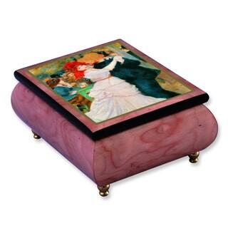 Versil Renoir 'Dance at Bougival' Masterpiece Pink Wood Music Box