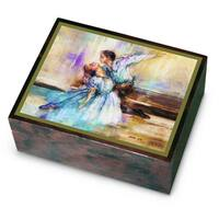 Versil Ercolano Lena Liu Brown Wood Ballet Music Box