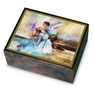 Versil Ercolano Lena Liu Brown Wood Ballet Music Box