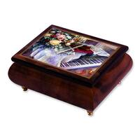 Versil Len Liu 'Harmonic Duet' Brown Wood Music Box