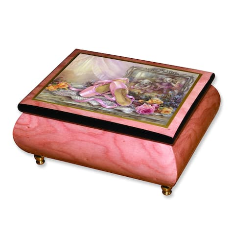 Len Liu Sweet Memory Pink Wood Music Box by Versil