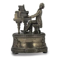 Versil Frederic Chopin Silver Resin Playing Piano Music Box