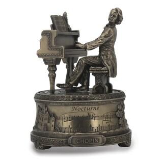 Versil Frederic Chopin Silver Resin Playing Piano Music Box