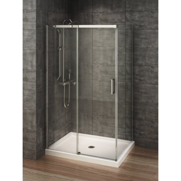 Elegant Berlin Glass 48 Inch X 32 Inch Rectangular Corner Shower Stall