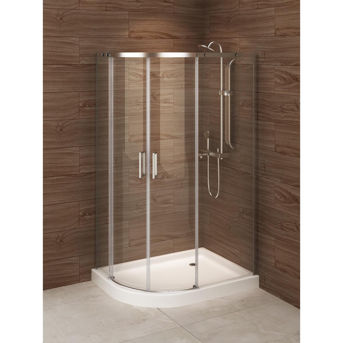 Madrid 48 Inch X 36 Left Opening Asymmetric Corner Shower Stall