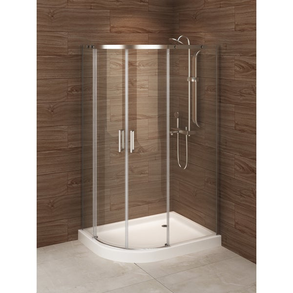 Shop Madrid 48 Inch X 36 Inch Left Opening Asymmetric Corner Shower