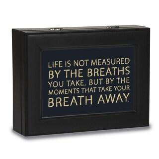 Versil Breath Away Black Resin Music Box
