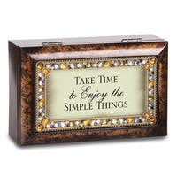 Versil Take Time Petite Jeweled Amber Music Box