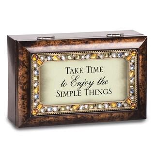Versil Take Time Petite Jeweled Amber Music Box