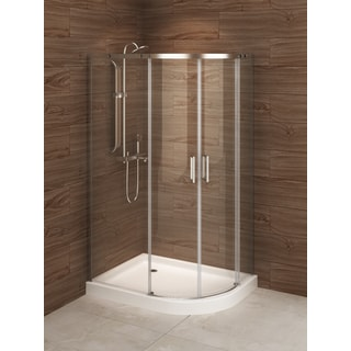 Madrid 48-inch x 36-inch Asymmetric Right-opening Corner Shower Stall