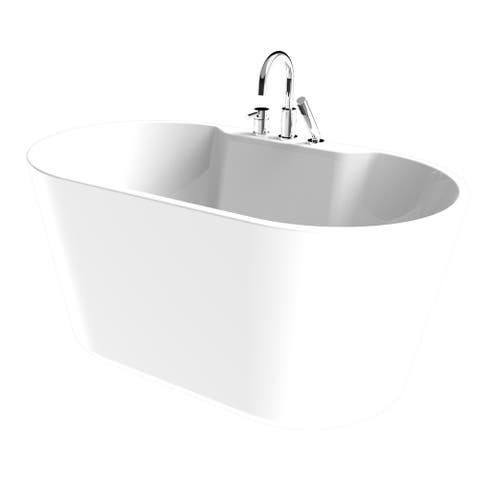 Retro All-in-one Free-standing Tub Combo - White
