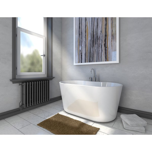 Retro All In One Free Standing Tub Combo   Free Shipping Today    Overstock.com   18857133