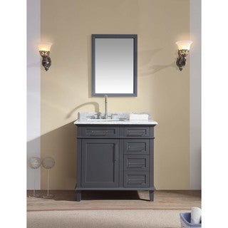 Ari Kitchen and Bath 36-inch x 34.5-inch Newport Single Bathroom Vanity Set