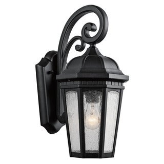 Kichler Lighting Courtyard Collection 1-light Textured Black Outdoor Wall Lantern
