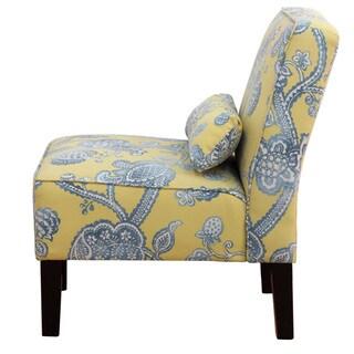 Skyline Furniture Espresso/Lovina Seaspray Polyurethane/Polyester/Pine Armless Chair