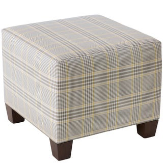 Skyline Furniture Glenshire Plaid Straw Square Ottoman