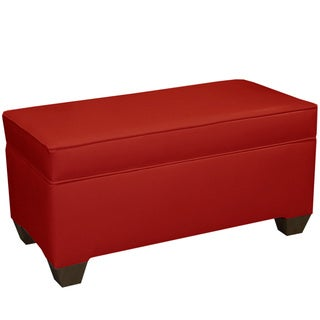 Skyline Furniture Red Vinyl 36-inch Storage Bench