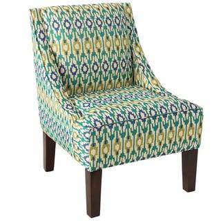 Skyline Furniture Espresso/Apsara Aegean Polyurethane/Polyester/Pine Swoop Arm Chair