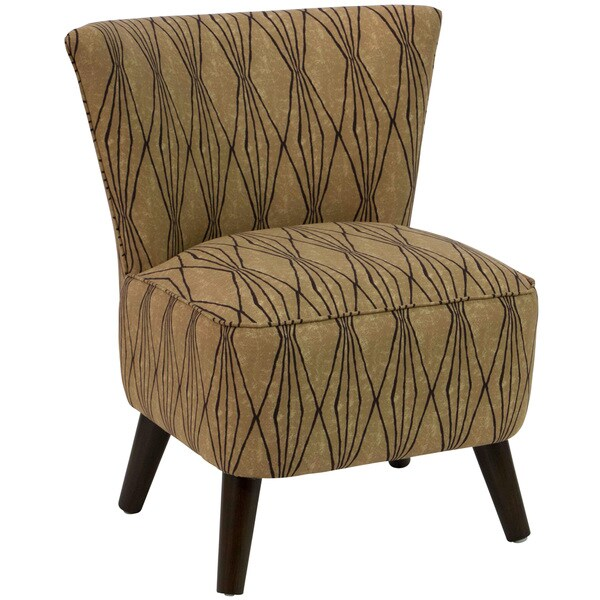 Skyline Furniture Espresso Flax Polyester Polyurethane Pine Upholstered Chair