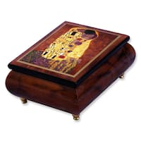 Versil Klimt 'The Kiss' Wood Masterpiece Music Box