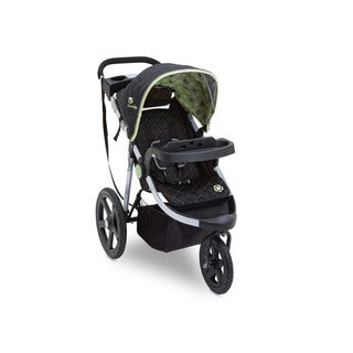 Delta J is for Jeep Brand Adventure Destination Black/Green/Silver Plastic All-terrain Jogging Stroller