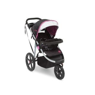 Delta J is for Jeep Brand Adventure Berry Tracks Black/Pink/Silver Plastic All-terrain Jogging Stroller