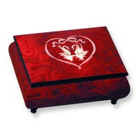 Versil Red Doves and Heart Inlay Music Box