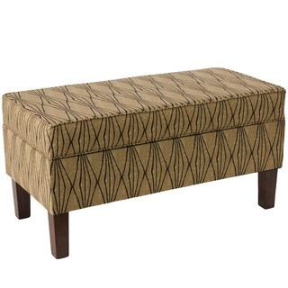 Skyline Furniture Espresso/Hand Shapes Flax Polyester/Polyurethane/Pine Storage Bench