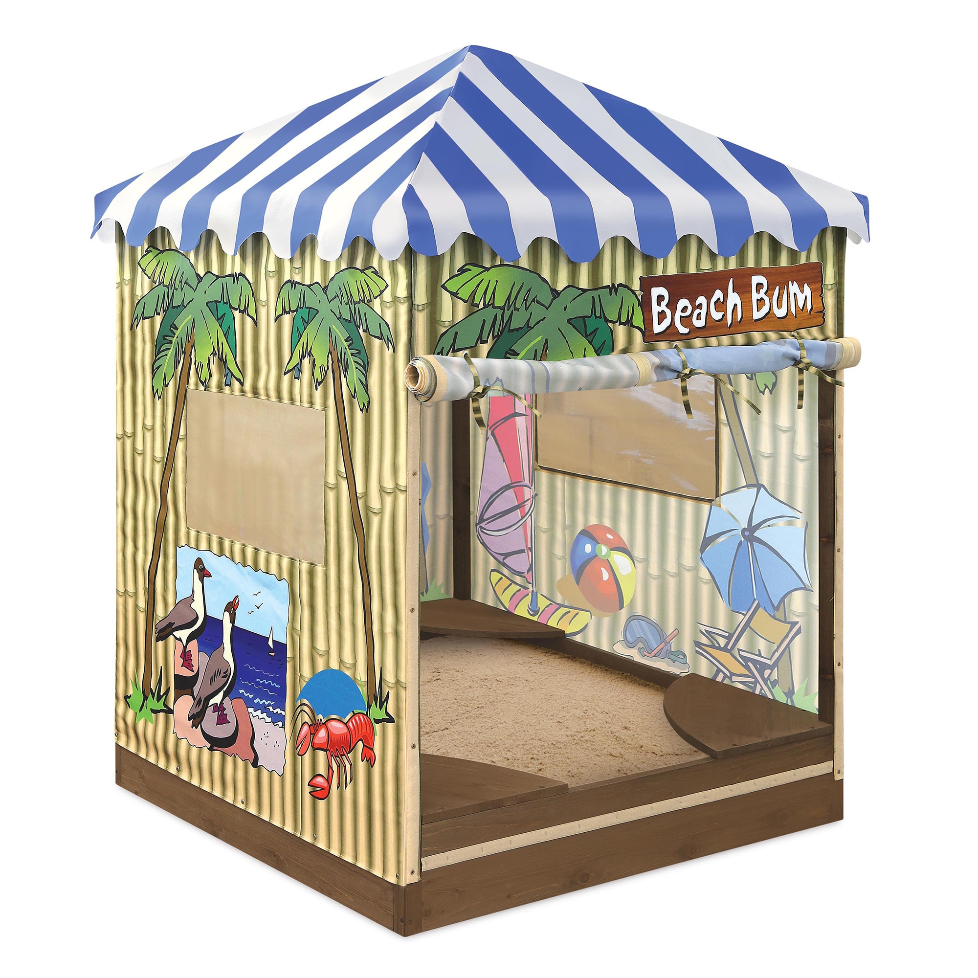Badger Basket Beach Bum Cabana Sandbox and Playhouse (Bea...