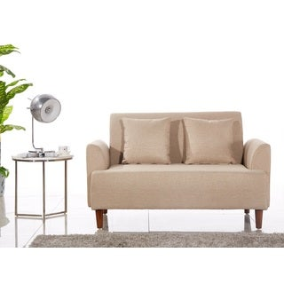 Modern Style Fabric Armed Loveseat
