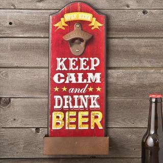 Keep Calm Red Beer Bottle Opener