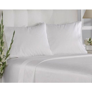 White Cotton 400-thread Count Solid Pillowcases 2-piece King Set