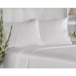 White Cotton 400-thread Count Solid Pillowcases (Pack of 6)