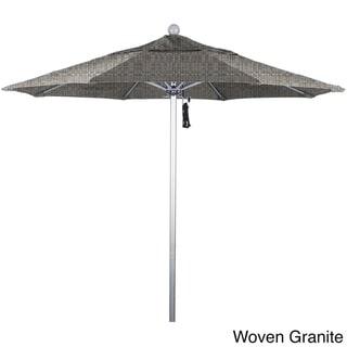 California Umbrella 7.5' Rd. Aluminum Frame, Fiberglass Rib Market Umbrella, Push Open,Anodized Silver Finish, Olefin Fabric