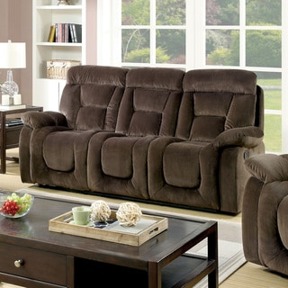 Furniture of America Aydell II Transitional Flannelette Sofa