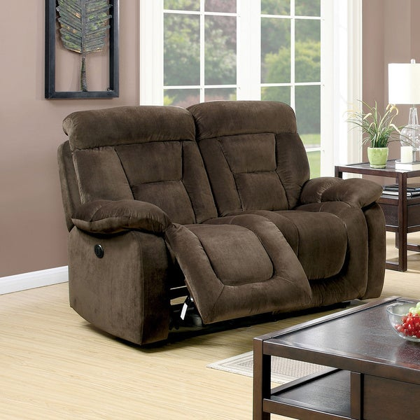 furniture of america aydell i transitional flannelette power assist