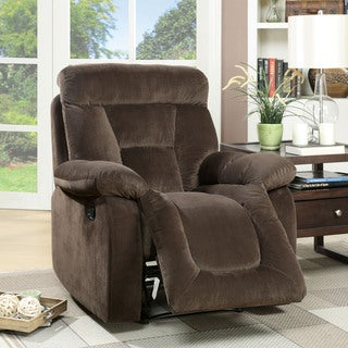 Furniture of America Aydell II Transitional Flannelette Recliner