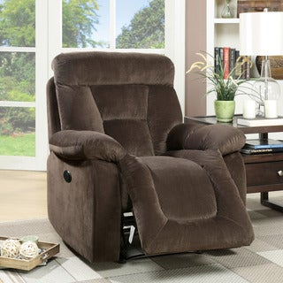 Furniture of America Aydell I Transitional Flannelette Power-Assist Recliner